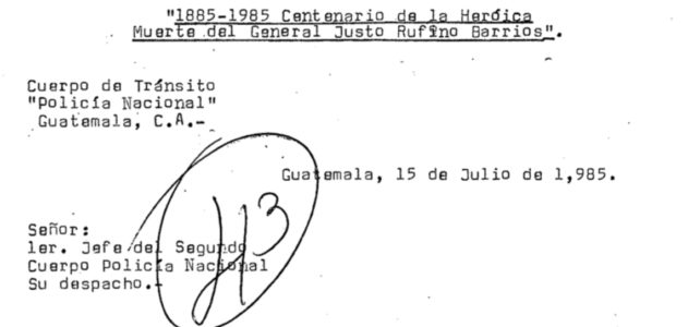 Guatemalan National Police Historical Archive (Primary Sources)
