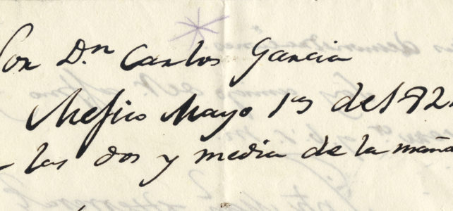 Carlos García y Arriaga Papers (Primary Sources)